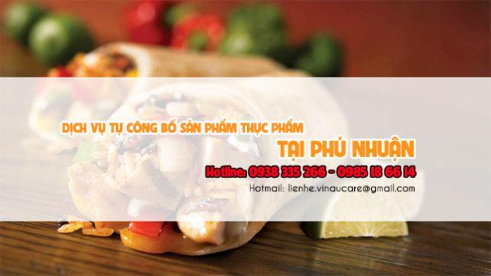 Dịch vụ tự công bố sản phẩm thực phẩm tại quận Phú Nhuận