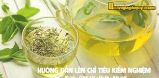 Hướng dẫn kiểm nghiệm trà (chè) để công bố chất lượng