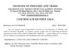 Mẫu CFS - Chứng nhận lưu hành tự do được Bộ Công thương cấp (Ảnh: DVvnu)