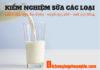 Chuyên nhận kiểm nghiệm sữa các loại (Ảnh: DVU)