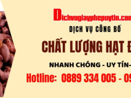 Cong bo chat luong hat dieu