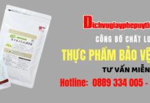 Cong bo thuc pham bao ve suc khoe