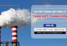 Chi tiết thành lập công ty TNHH một thành viên