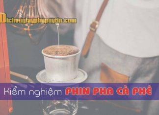 Kiểm nghiệm phin pha cà phê